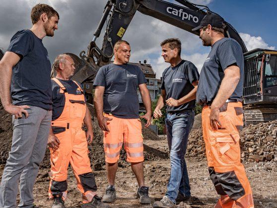 Besprechung Baustelle Aushub Baugrube